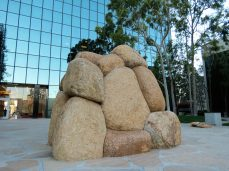'Spirit of the Lima Bean', Granite boulders that represent the land once used as a Lima Bean farm