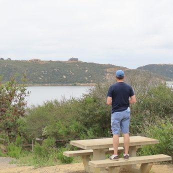 Olivenhain reservoir overlook