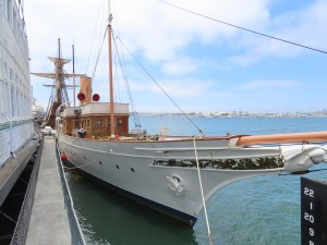 the California sails the seas