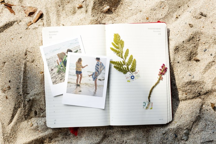 preserving travel memories in a scrapbook