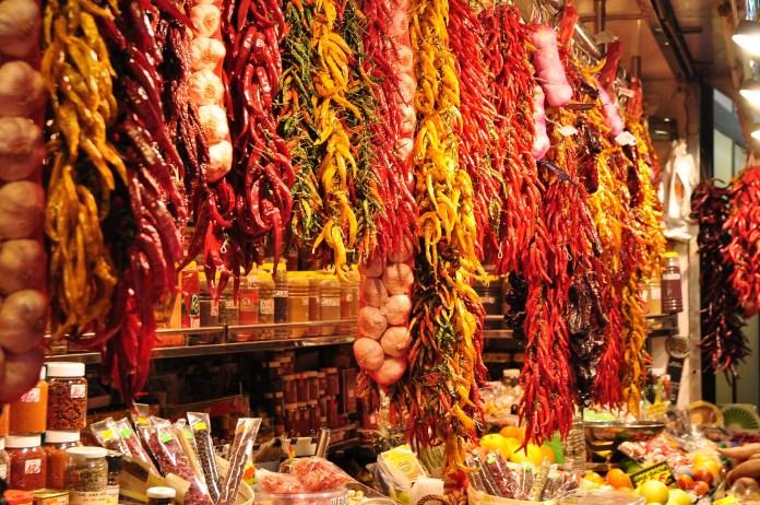 weekend city break at Barcelona market