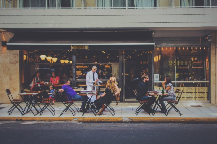sidewalk cafe for weekend city break
