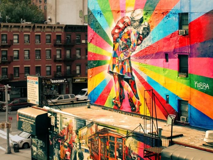Street mural in NYC weekend city break