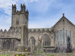 Looking around Limerick St Mary's church and graveyard
