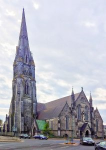 Limerick St John's Cathedral with spire