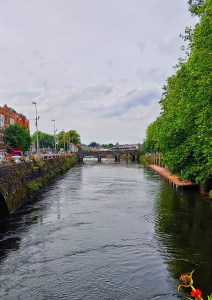looking around Limerick at the canal of Shannon River