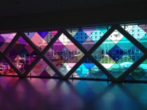 stained glass at Miami airport