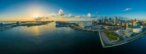Miami panorama view