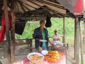 Costa Rican roadside vendor