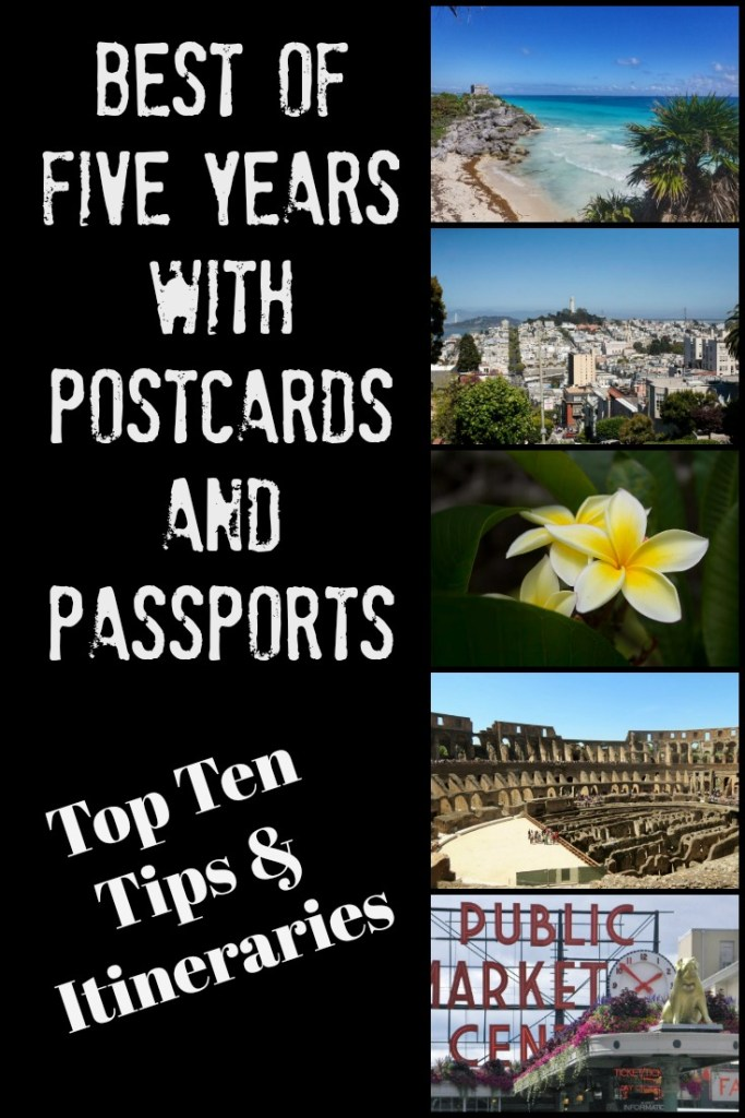 five years with postcards and passports
