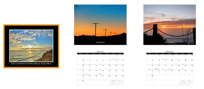 California Sunsets 2021 calendar