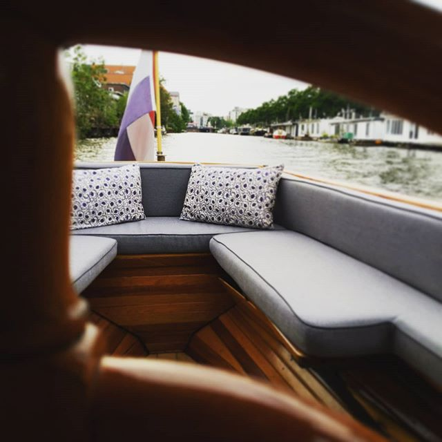 outdoor seating of boat