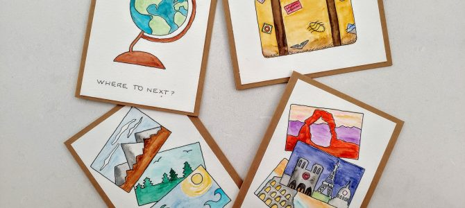 How to Paint Your Own Travel Cards
