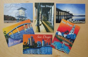 San Diego postcards