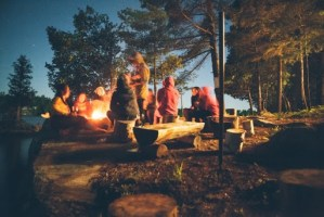 camping with the whole family