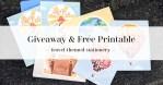 Travel-Themed Stationery Set & Stickers