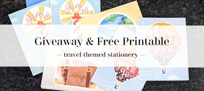 Travel-Themed Stationery Set & Stickers