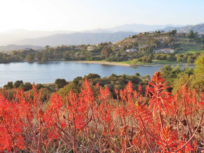 View of Puddingstone Reservoir