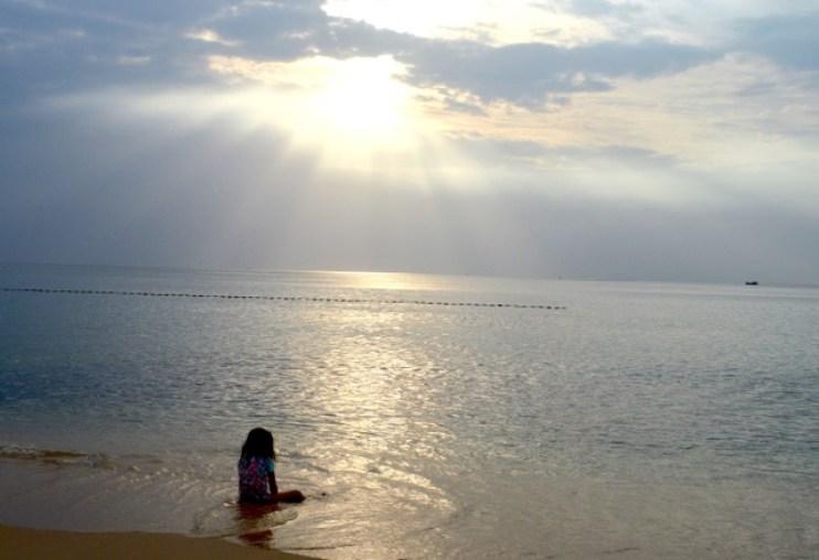 Sunset at Long Beach on Phu Quoc Island, Vietnam