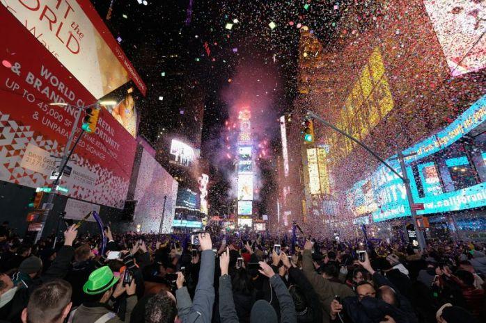 Pasar Año Nuevo en Nueva York