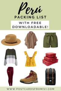 The ultimate Peru packing list with downloadable checklist