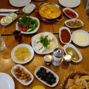 BYOB: Bring your own bread! And you'd be good to go with this amazing Turkish breakfast.