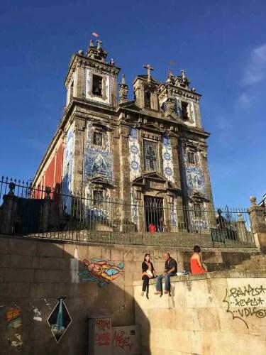 Blue-tiled church, Porto, Portugal