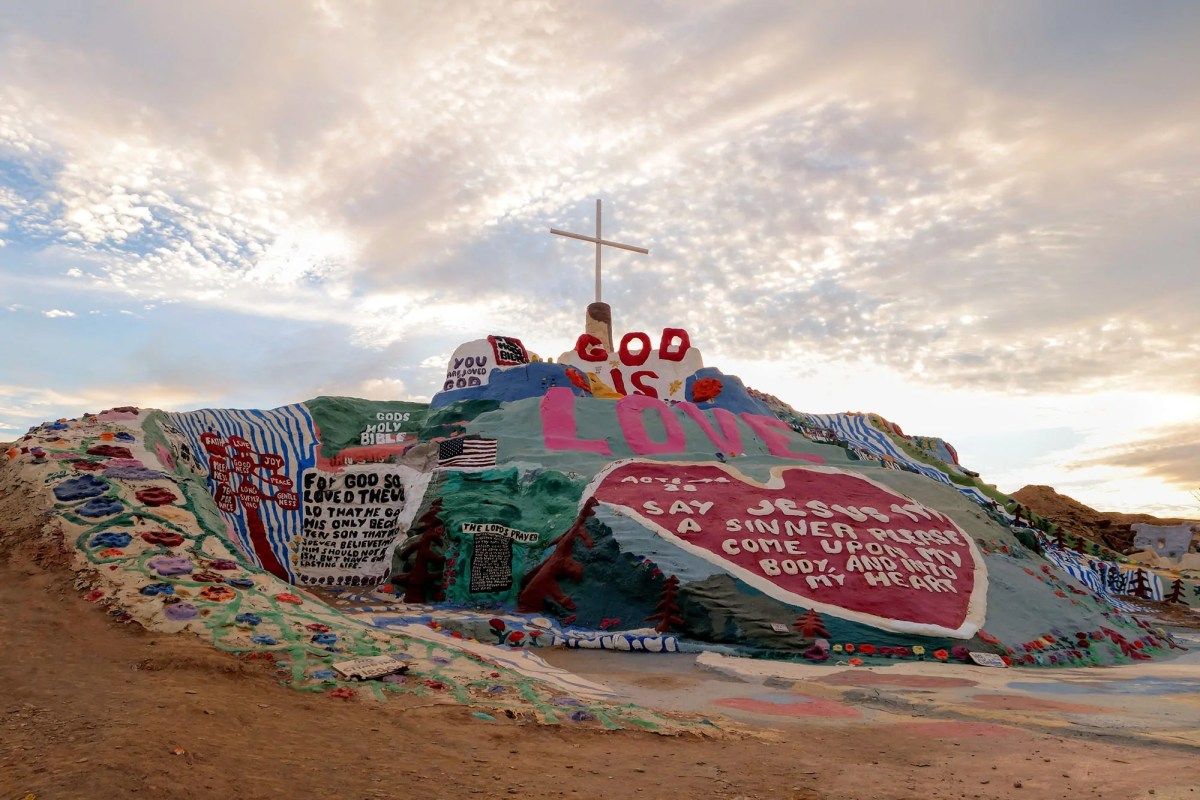 Slab City's Salvation Mountain