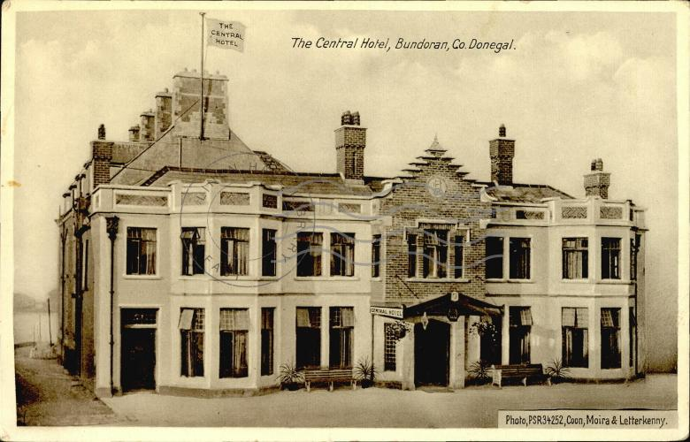 The Central Hotel Bundoran Co Donegal Postcards Ireland
