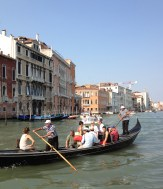 Crossing the canal in a traghetto
