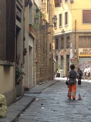 Every morning...sweeping Florence clean