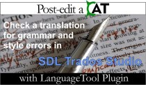 New LanguageTool Plugin for SDL Trados Studio available!