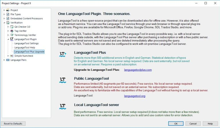 LanguageToolPlugin Plus Upgrade