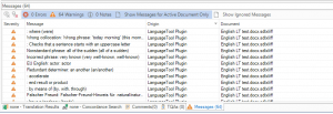 LanguageTool Plugin Error Messages English