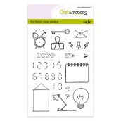 Clear Stamp doodles & digits van CraftEmotions