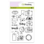 Clear Stamps reizen van CraftEmotions