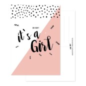 Geboortekaart It's a girl van FrouFrou