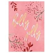 Kerstkaart Holly Jolly van LabelE