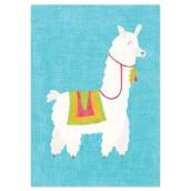 Postkaart Alpaca Blauw van Nouk-san