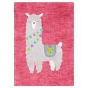 Postkaart Alpaca Roze van Nouk-san