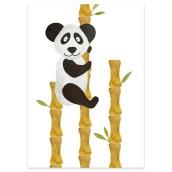 Postkaart Panda Bamboe van Nouk-san