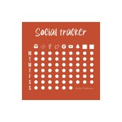 Social tracker van Studio Stationery