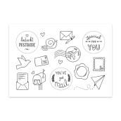 Stickervel Post van Nouk-san