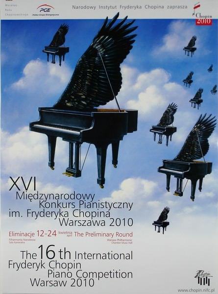 Music Poster International Fryderyk Chopin Piano