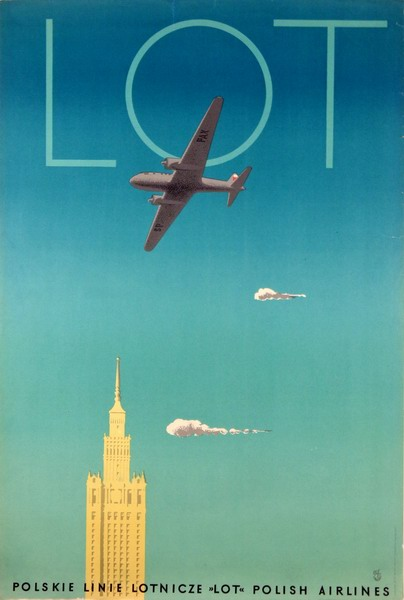 promotion advertising poster LOT Polish Airlanes