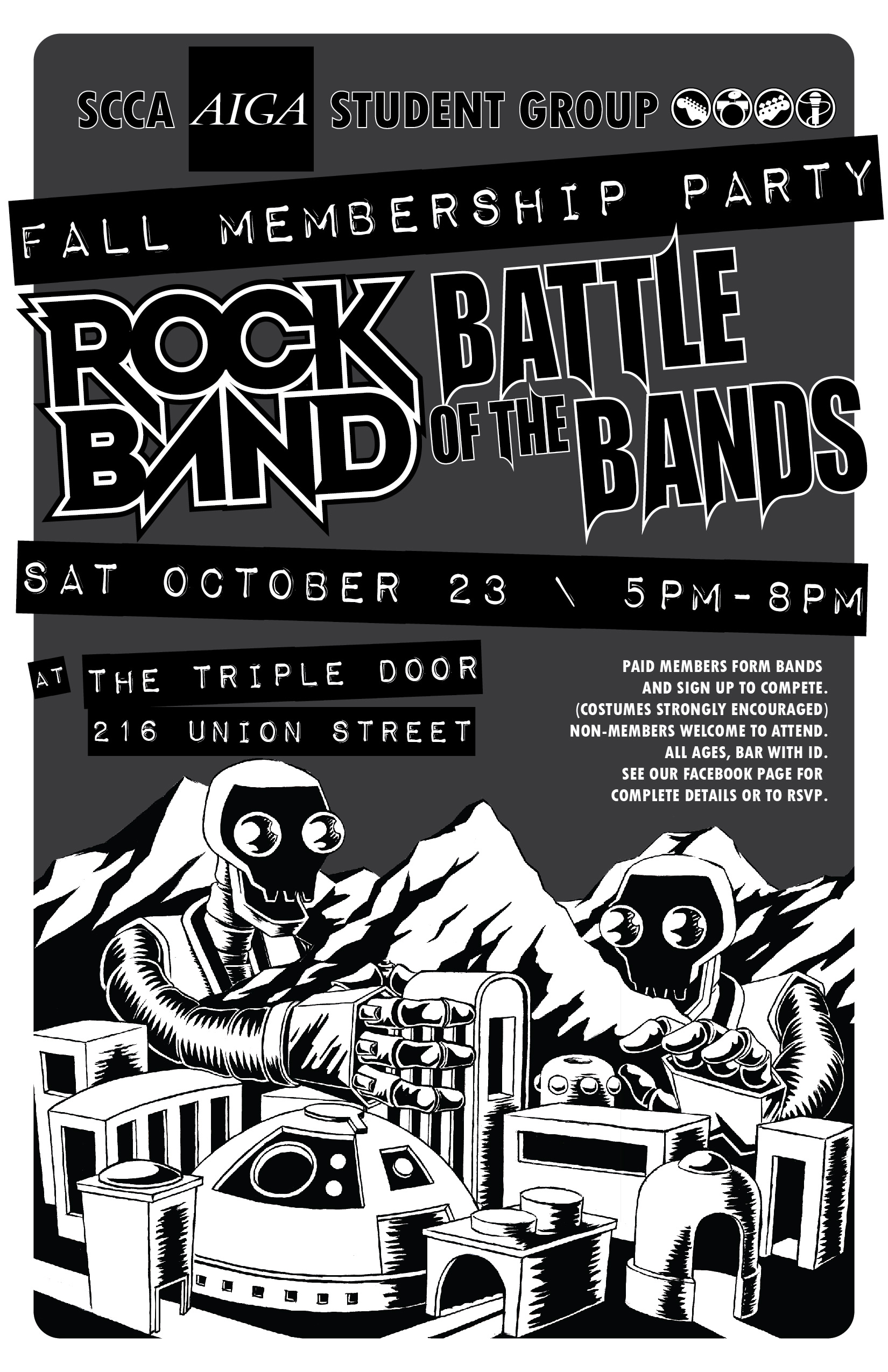 Poster a Week Free Posters Online - This Week: Rock Band / Battle of the Bands, Event Poster