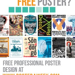 Poster a Week Free Posters Online - This Week: Poster A Week Project Self-Promo Poster