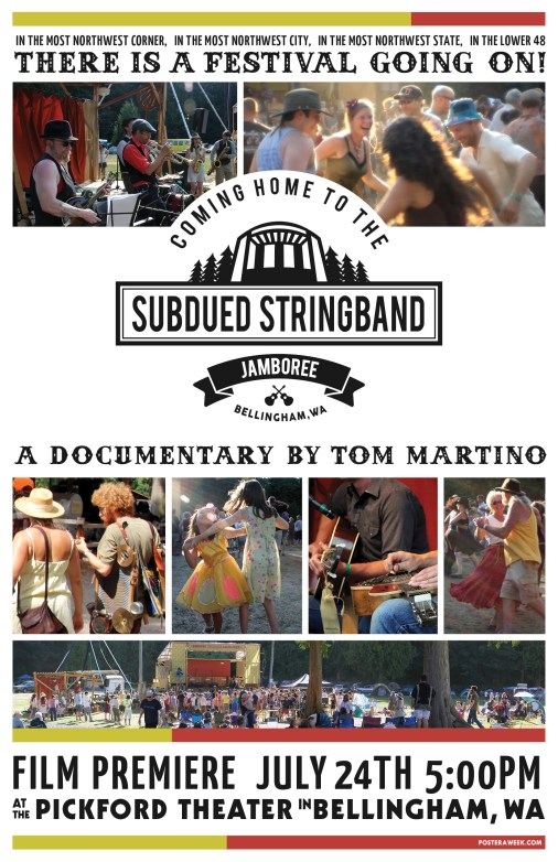 Poster a Week Free Posters Online - This Week: Coming Home to the Subdued Stringband Jamboree