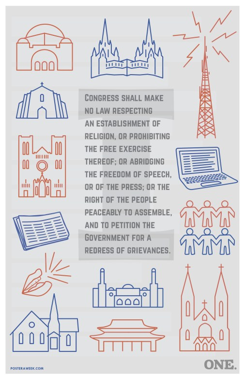 Poster a Week Free Posters Online - This Week: First Amendment