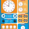 poster leren klokkijken educatieve posters voor klas of thuis